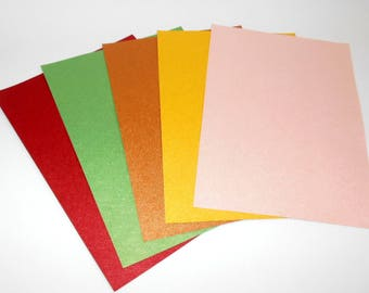 Set of thick TEXTURE papers for scrapbooking and crafts hobbies