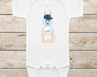 Easter Bunny/Monogrammed/Infant Onesie/Happy Easter/Easter Egg/Easter Basket/Easter Gift/Bunny Gift/Easter Clothes/Bunny Ears/Easter Outfit