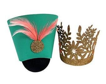 Meri Meri nutcracker hats. nucracker decor. nutcracker hats. nutcracker crowns. sugarplum fairy. nutcracker party. nutcracker party hats