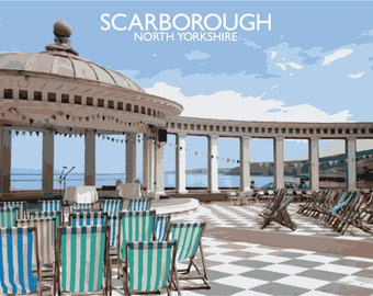 An Illustration of Scarborough in North Yorkshire