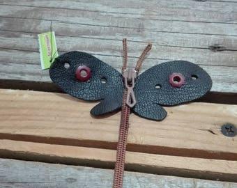 Closure black Dragonfly brooch