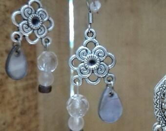 Tibetan Silver earrings drops