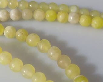 "Light Green 4mm Round Natural Korean Jade Gemstone Beads (15"" Strand)"