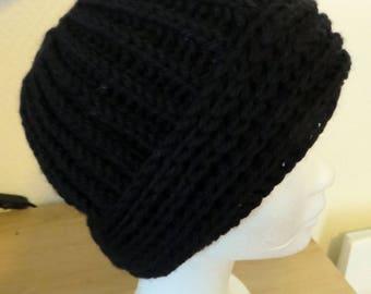 Black color wool Beanie