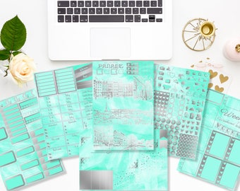 FOIL - Paname -  Weekly kit - 6/7 pages - Planner stickers - Erin Condren - Plum Paper - Kikki K - Paperchase - Filofax