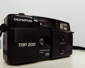 Olympus Trip 200 Compact 35mm Film Camera - 1990s Retro Camera