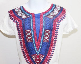 Dashiki T-shirt, Memorial day, 4th of July, Summer-Patriot
