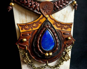 MEDIEVAL LEATHER NECKLACE