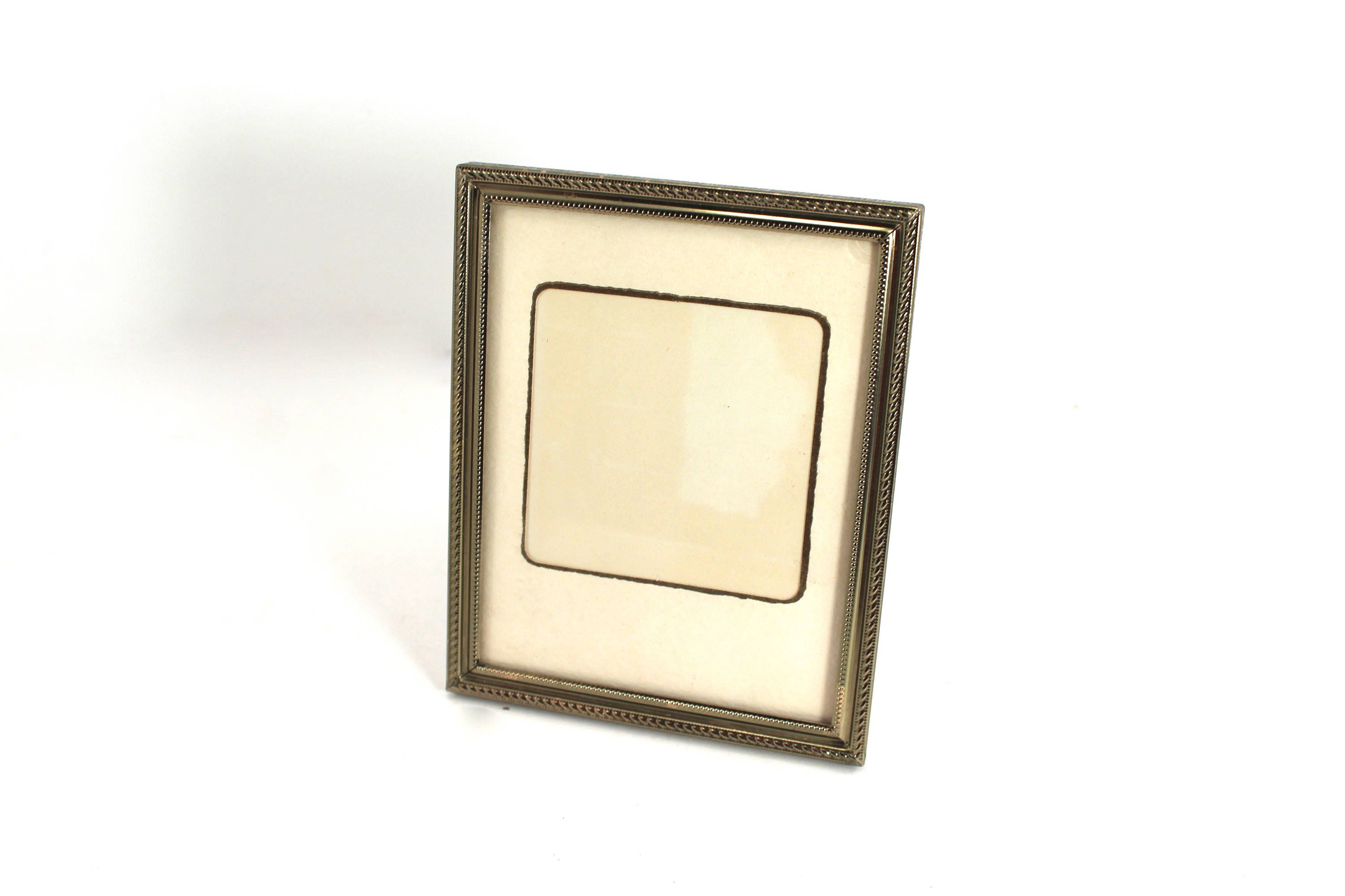 Vintage 3x4 Or 4x5 Picture Frame Gold Tone Metal With A
