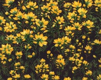 Moda Wildflowers VI Quilt Fabric 1/2 Yard By Sentimental Studios - Yellow 32813 15