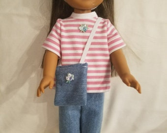 "NEW 14.5 inch ! Dixie-crafted 3 piece Play Outfit  to fit 14.5"" Dolls including those from the American Girl Doll  Co"