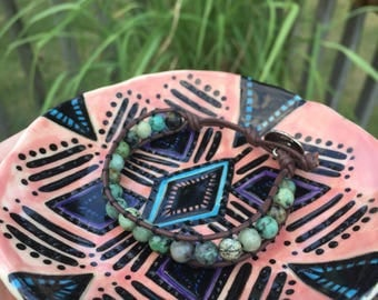 Chan Luu Inspired African Turquoise Gemstone Bracelet