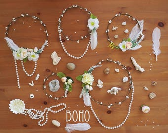 Floral wall hang, flower circlet set of 5, Boho Aisle decor, Boho flower hoop wall hang, wedding canopy backdrop, beach wedding