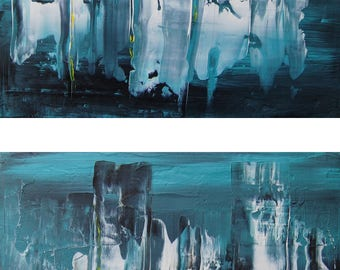 Abstract art in the miniature, painting, acrylic
