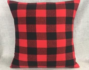 Buffalo Check Pillow - Plaid Check Pillow - Rustic Nursery Theme - Rustic Farmhouse Decor - Buffalo Check Decor - Woodland Nursery