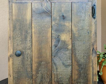 Rustic Wall Cabinet made from Reclaimed & Repurposed Pallet Wood