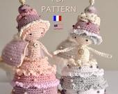 Cupcake doll -PDF digital crochet pattern - crochet amigurumi
