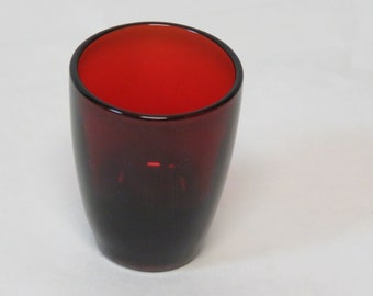 """Vintage Anchor Hocking Royal Ruby Red 3"""" Tall Shot Glass"""