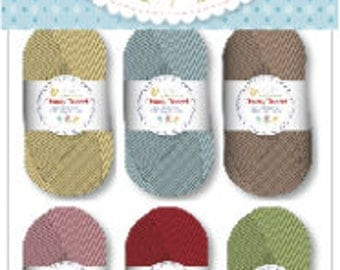 Chunky Thread by Lori Holt for Riley Blake Designs - #1 Sampler Package (6 10 g Skeins)