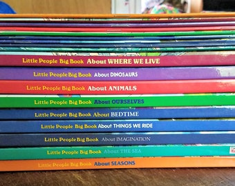 Fisher Price Little People Big Book & Activity About Books / Set of 9 Hardcover / Set of 9 Matching Paperback Activity Books / Time Life