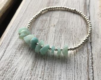 Amazonite & Silver - Gemstone Bracelet