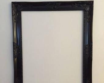 Black Open Frame, Baroque Frame, Hollywood Regency, Ornate Wall Frame, Chic Home Decor, Black Frame, Salon Frame