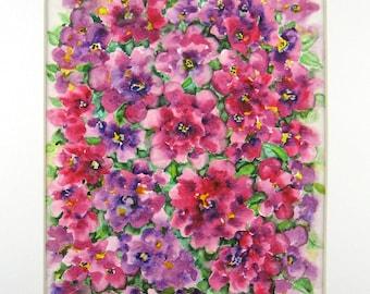Original Watercolor, Original Painting, Abstract Watercolor, Roses Watercolor, Home Decor
