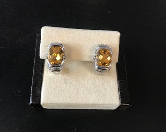 Sterling silver and citrine earing