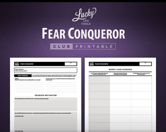 Fear Conqueror - CLUB Printable Exercise