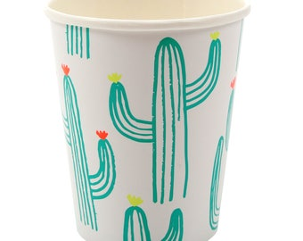Cups | Meri Meri Cactus Cups | Cactus Party Supplies | Cactus Party Decor | Pack of 12 | Southwest | Fiesta | Paper Cups | The Party Darling