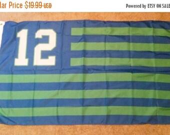 PRE-SEASON SALE 30% Off Seattle Seahawks #12, Seahawks Nation Flag or Banner 3' x 5'