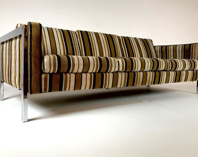 Milo Baughman Sofa Chrome Base