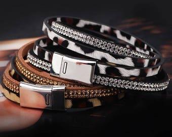 Leather Leopard Bracelet