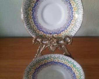 Retro Saucers/Royal Stafford/Bone China/English/2 Plates