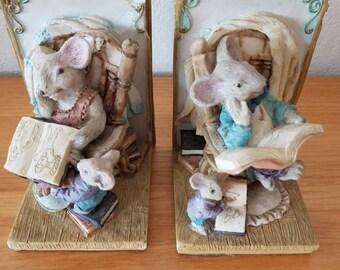 Vintage Ceramic Bookends; Nursery Room Decor; Childrens Bookends; Childrens Room Decor