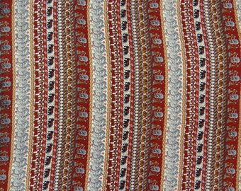 """Decorative Fabric, Multicolor Printed, Indian Fabric, Dress Material, Upholstery Fabric, 45"""" Inch Polyester Fabric By The Yard ZBP66F"""