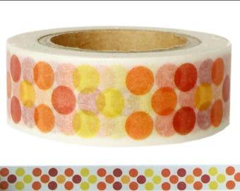 Washi Tape DOTS orange