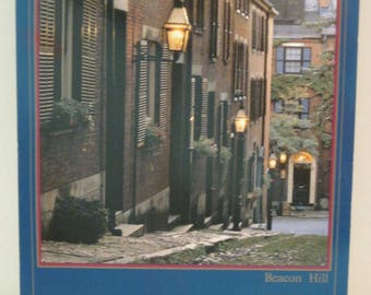 Boston Beacon Hill Acorn Street Postcard