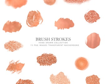 Clipart rose gold brush strokes, brushed metallic, strokes, rose gold, Strokes Clipart, strokes rose gold, gold strokes, rose gold texture