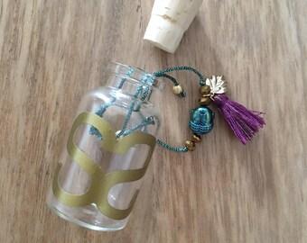 Sparkling blue cord Friendship Bracelet