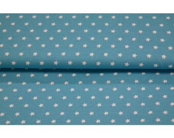 Turquoise Stars Smooth Light Weight Cotton