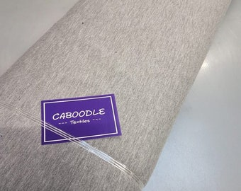 Light Grey Flecked French Terry  - Quality 4 way stretch 290gsm