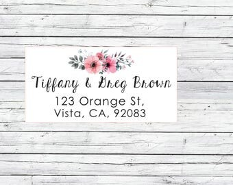 Floral return address labels, cute address labels, flowers return address labels, floral address labels, shipping labels , mailing label
