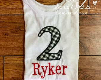 Applique Birthday Shirt -- personalized with name