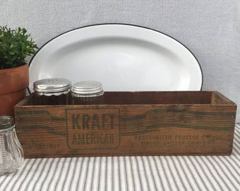"Beautiful Vintage Kraft 13.75"" Wood Cheese Crate/Box, Item No. 1841"