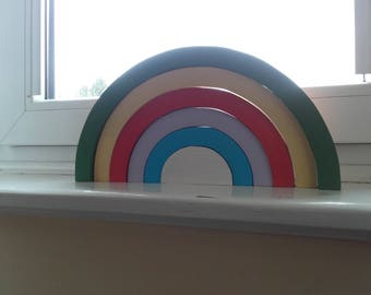 Stacking RAINBOW wooden toy