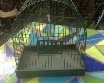 Vintage Hendryx Rectangular Metal Wire Bird Cage