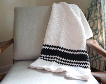 Baby Blanket   New Baby Gift   Modern Baby Blanket   Tribal Print Blanket