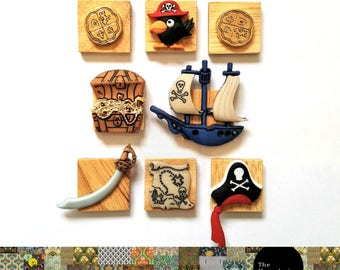 Pirate Fridge Magnet Set