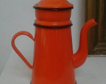Vintage enamel coffee pot vintage - old enamel coffee pot French - french vintage coffee maker